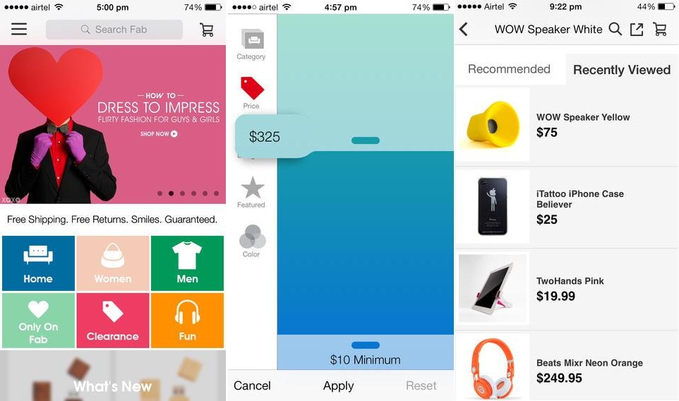 fab.com mobile retail app