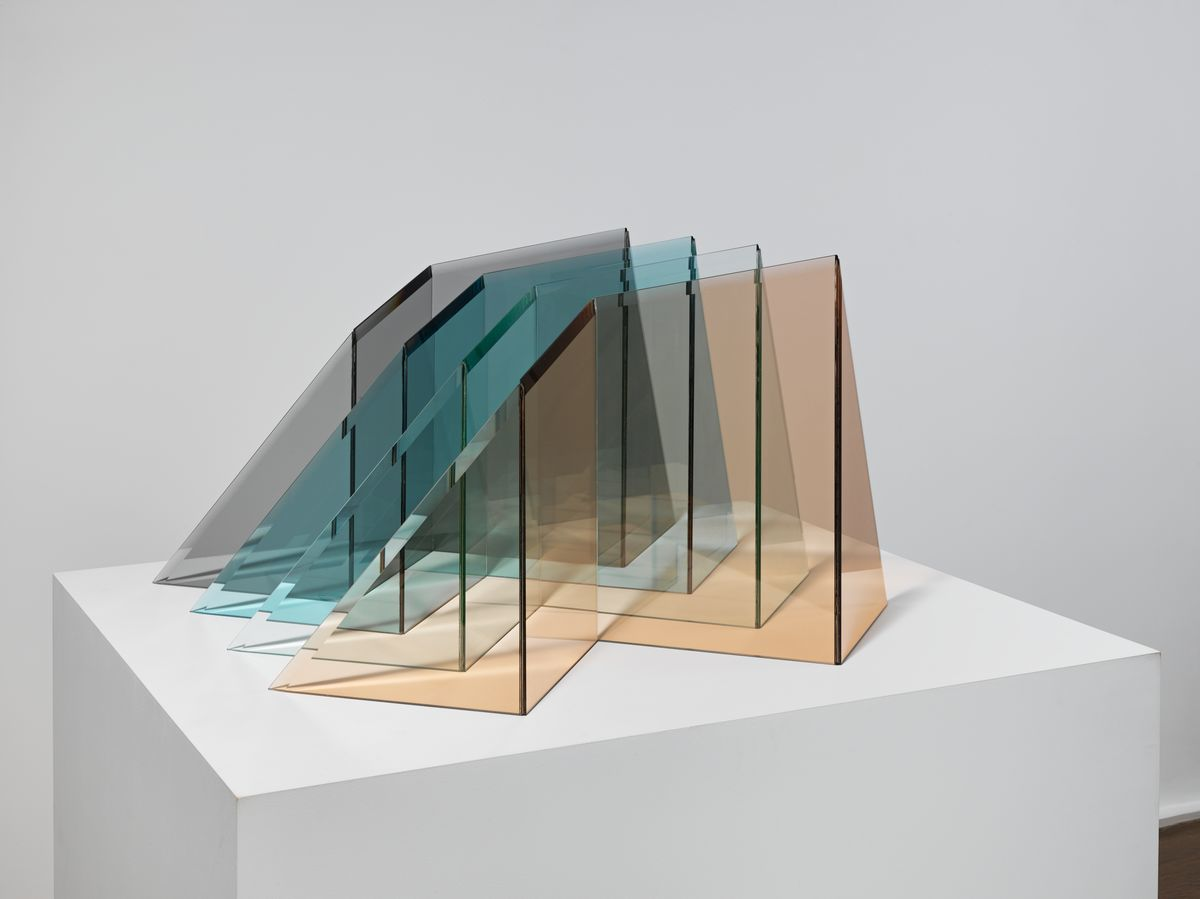 """""""Glacier"""" by Larry Bell, 1999. Photo by Genevieve Hanson, courtesy of Hauser & Wirth"""