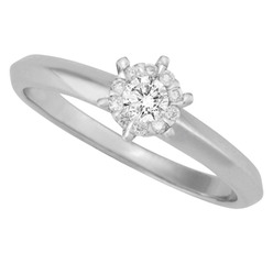 Cluster Illusion Set Solitaire Ring