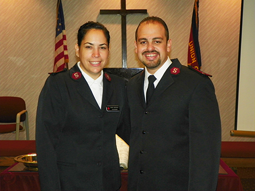 The Salvation Army Perth Amboy Corps officers Lieutenant Alex Rodriguez and Captain Diana Rodriguez