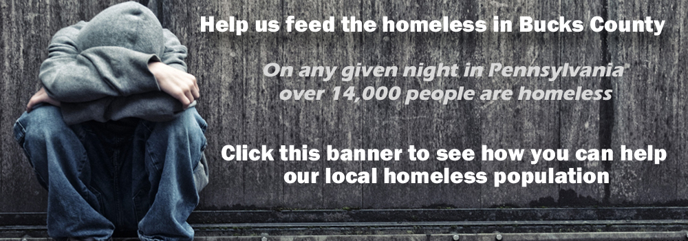 Donate to help feed the homeless