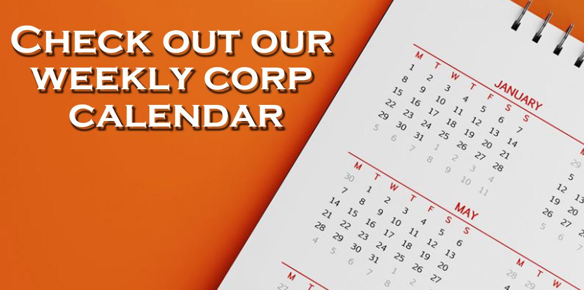 Weekly Corps Calendar