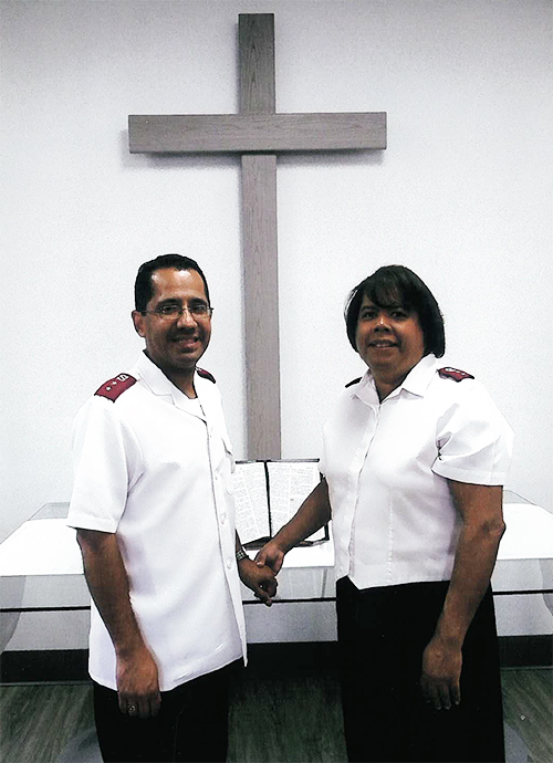 The Salvation Army New Brunswick Corps officers Major Leonardo and Persida Sanclemente