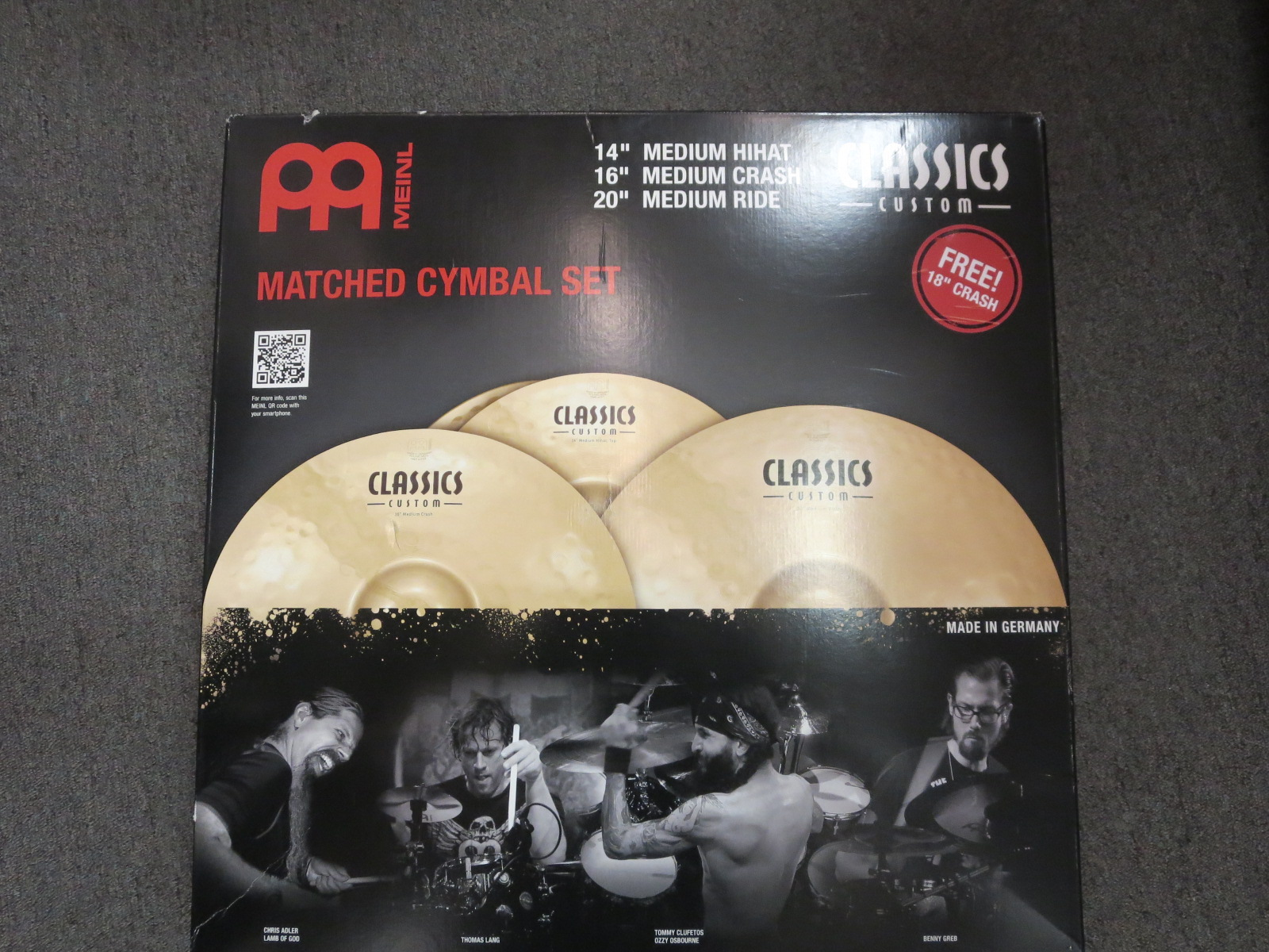Meinl - Classic Customs Pack