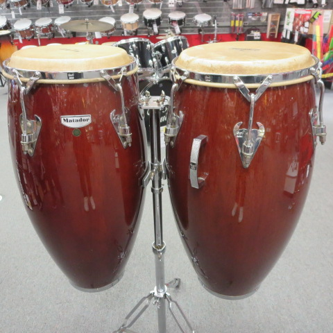 Latin Percussion - Matador set with bags and stand