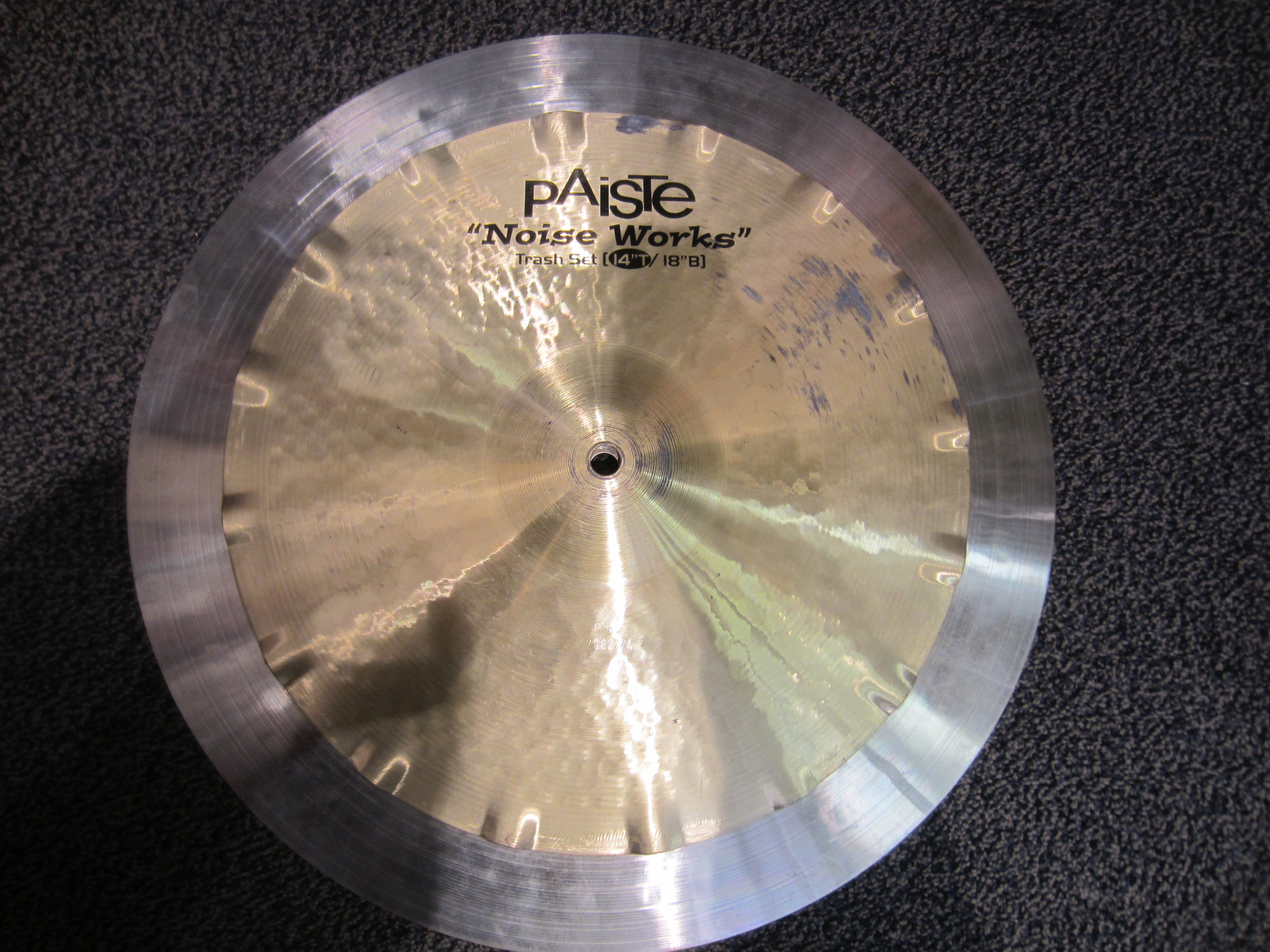 "Used Paiste 14/18"" NoiseWorks Stacker Cymbal"