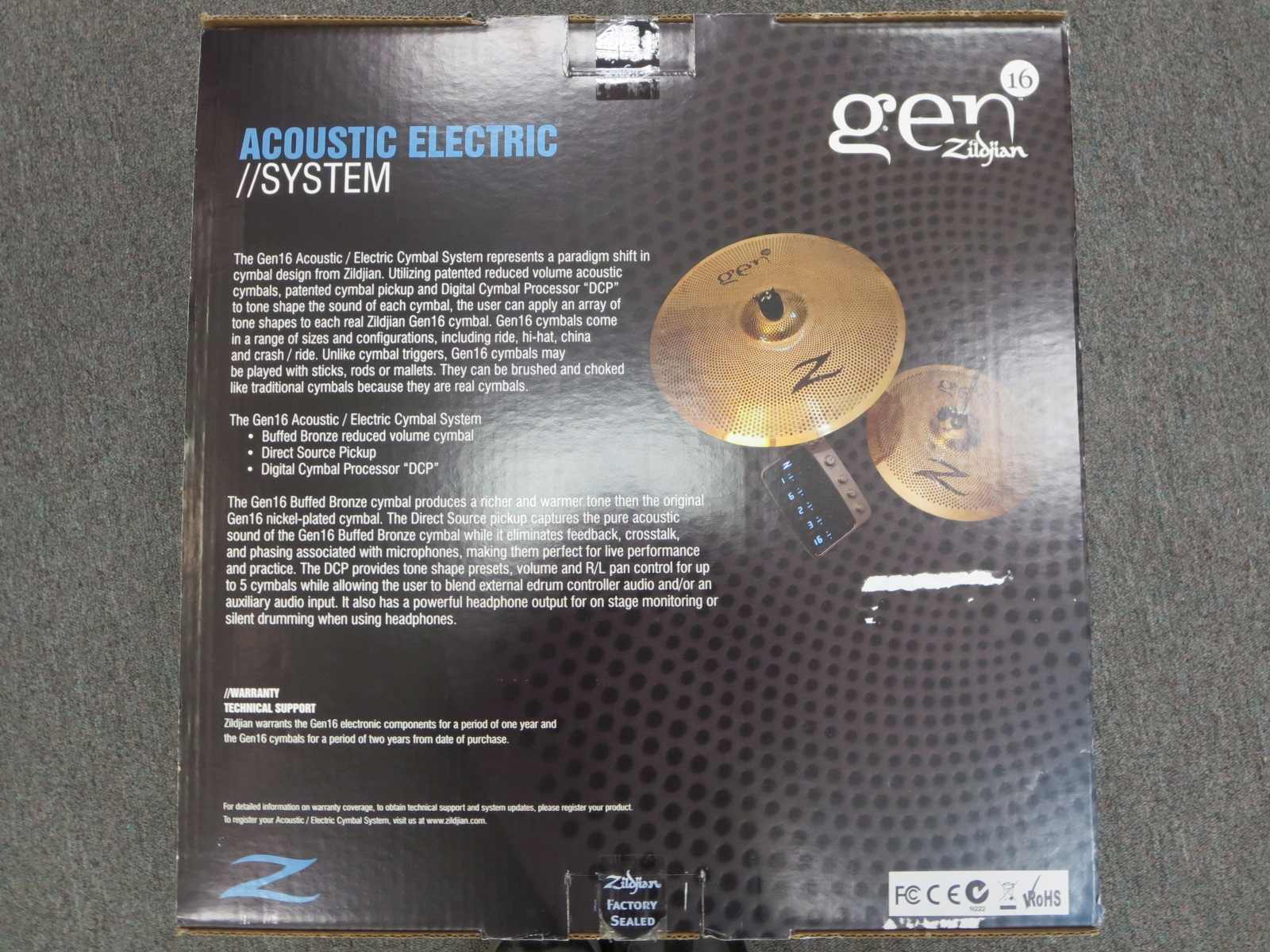 Zildjian - Gen 13/18 Buffed Bronze Electric Cymbals