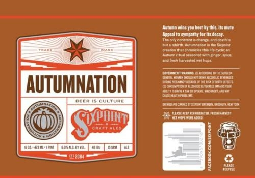 Sixpoint Autumnation Beer 23344