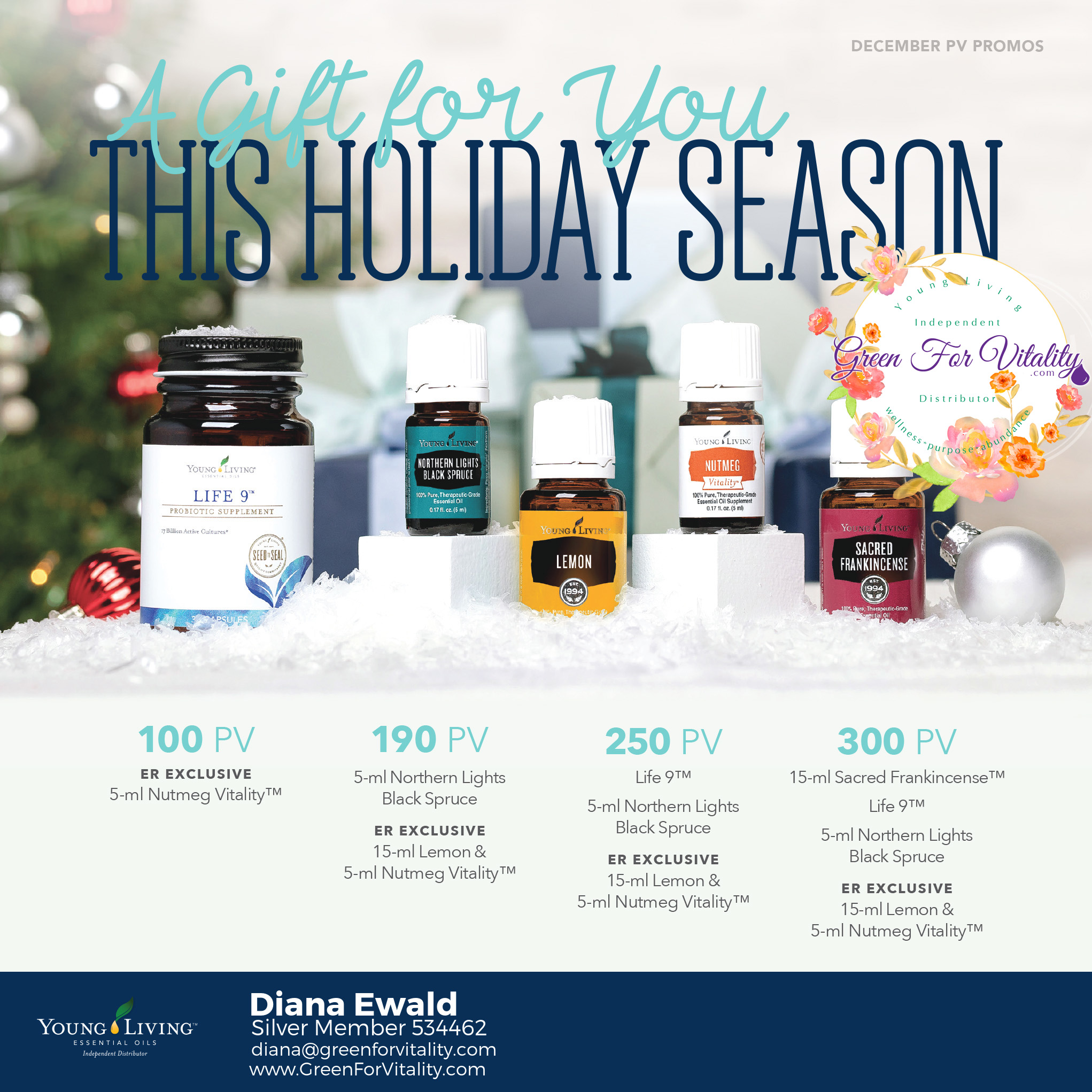 Young Living December 2017 Promos