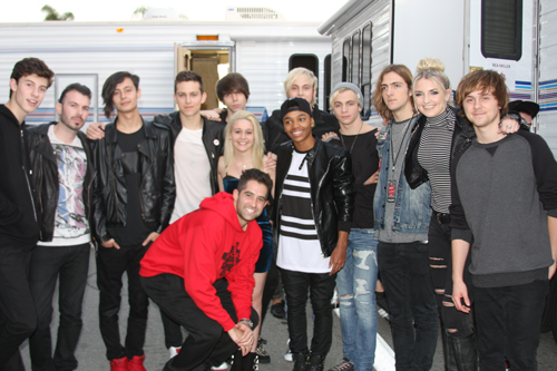 Ned Specktor with Shawn Mendes, Exist Elsewhere, Bea Miller, Josh Levi, & R5 before the show!
