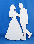 BRIDE & GROOM (12in x 1½ thick) QTY2
