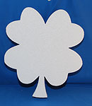 FOUR LEAF CLOVER (12in x 1½ thick) QTY2