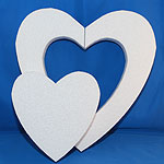 DIE-CUT HEART (18in x 1½ thick) QTY2