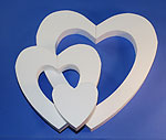 DOUBLE DIE-CUT HEART (36in x 2 thick) QTY1