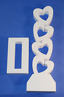 STAND-UP CENTERPIECE:  ROCKING HEARTS DIE-CUT 20in Tall QTY 1