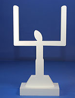 GOAL POST WITH FOOTBALL (18in x 1½ thick) QTY2