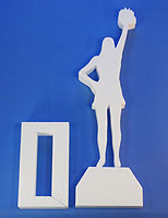 STAND-UP CENTERPIECE: CHEERLEADER C (20in Tall) QTY