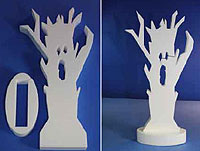 STAND-UP CENTERPIECE:  SPOOKY TREE (20in Tall) QTY