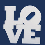 LOVE (12in) QTY 3 (12in x 1½ thick) QTY2