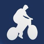CYCLIST WITH SOLID WHEELS (12in x 1½ thick) QTY2