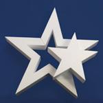 DIE-CUT STAR 2 STARS (12in x 1½ thick) QTY2