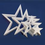 DIE-CUT STAR 4 STARS (18in x 1½ thick) QTY2