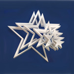 DIE-CUT STAR 6 STARS (36in x 2in thick) QTY1