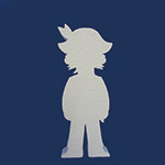 PIRATE BOY (12in x 1½ thick) QTY2