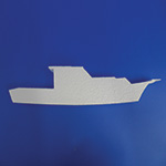 BOAT A (12in) QTY 3 (12in x 1½ thick) QTY2