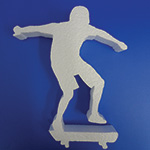 SKATEBOARDER (12in x 1½ thick) QTY2