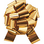 GOLD METALLIC PULL BOWS - PFG-9 5½ IN X 20 LOOPS QTY 50