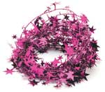 STAR GARLAND HOT PINK (25 FT)  QTY 1