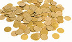 GOLD PAPER CONFETTI ROUND (.8 OZ) QTY 3