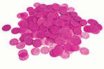HOT PINK PAPER CONFETTI ROUND (.8 OZ) QTY 3