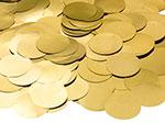 GOLD METALLIC CONFETTI ROUND (.8 OZ) QTY 3