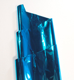 BLUE TURQUOISE METALLIC SHEETS (18IN X 30IN) QTY 50