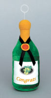 CHAMPAGNE BOTTLE - PLUSH BALLOON WEIGHTS (5¼ INCH)  QTY 6