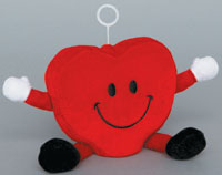 HEART - PLUSH BALLOON WEIGHTS (4 INCH)  QTY 6