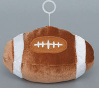 FOOTBALL - PLUSH BALLOON WEIGHTS (3 INCH)  QTY 6
