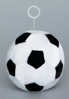 SOCCER BALL - PLUSH BALLOON WEIGHTS (3 INCH)  QTY 6