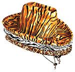 ANIMAL PRINTS HATS -  (ADULT)  QTY 6