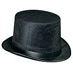 PLASTIC TOP HAT WHITE -(ADULT)  QTY 24