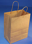 BAG NATURAL SHOPPING BAG 8in X 4.75in X 10.5in QTY 50