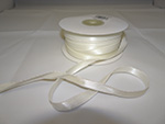 WHITE SATIN W/IRIDESCENT EDGE (3/8 IN X 50 YDS)  QTY 1