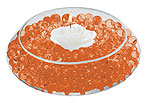 DECO BEADS ORANGE 5 POUND TUB