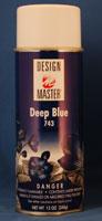 DEEP BLUE 120Z COLOR TOOL - DESIGN MASTER SPRAY PAINT (12 OZ)  QTY 4