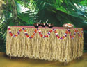 RAFFIA TABLE SKIRT (30 IN x 9 FT)  QTY 1