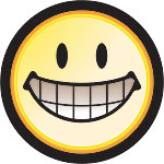 OPEN SMILE WITH TEETH - BUTTONS (3½ IN)  QTY 1