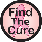 FIND THE CURE BUTTON  (3.5IN ) QTY 1