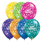 BIRTHDAY SPARKLING BALLOONS FANTASY ASSORTMENT (11 INCH)  QTY 50
